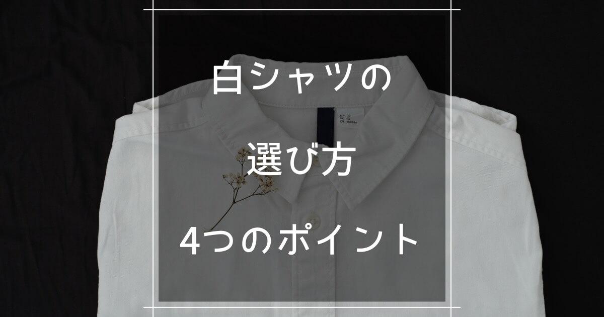 白シャツの選び方4つのポイント